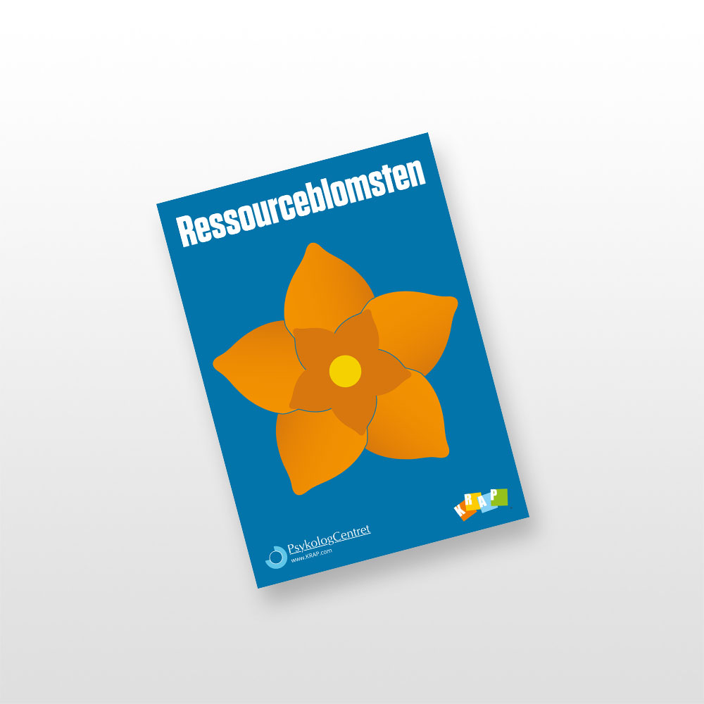 Postkort med Ressourceblomsten i orange